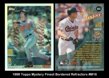1998 Topps Mystery Finest Bordered Refractors #M16
