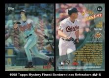 1998 Topps Mystery Finest Borderless Refractors #M16