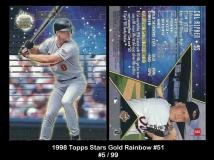 1998 Topps Stars Gold Rainbow #51