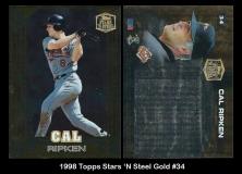 1998 Topps Stars 'N Steel Gold #34