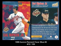 1999 Aurora Pennant Fever Blue #3