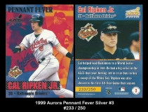 1999 Aurora Pennant Fever Silver #3