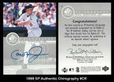 1999 SP Authentic Chirography #CR