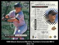 1999 Black Diamond Mystery Numbers Emerald #M13