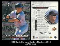 1999 Black Diamond Mystery Numbers #M13