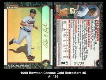 1999 Bowman Chrome Gold Refractors #5