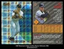 1997 Bowmans Best Jumbo Atomic Refractor #64