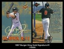 1997 Burger King Gold Signature #1