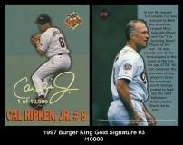 1997 Burger King Gold Signature #3