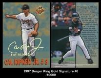 1997 Burger King Gold Signature #6