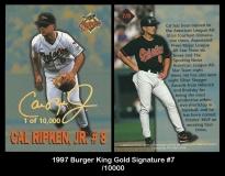 1997 Burger King Gold Signature #7