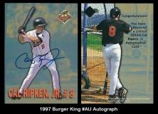 1997 Burger King #AU Autograph