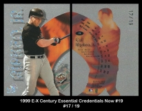 1999 E-X Century Essentials Credentials Now #19