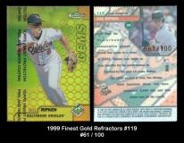 1999 Finest Gold Refractors #119