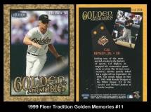1999 Fleer Tradition Golden Memories #11