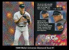 1999 Metal Universe Diamond Soul #1