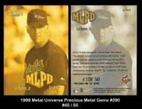 1999 Metal Universe Precious Metal Gems #290
