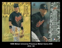 1999 Metal Universe Precious Metal Gems #49