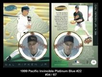 1999 Pacific Invincible Platinum Blue #22