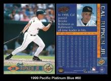 1999 Pacific Platinum Blue #60