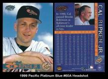 1999 Pacific Platinum Blue #60A Headshot
