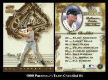 1999 Paramount Team Checklist #4