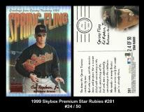 1999 Skybox Premium Star Rubies #281