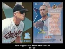 1999 Topps Stars Three Star Foil #20