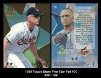 1999 Topps Stars Two Star Foil #20