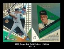 1999 Topps Tek Gold Pattern 12 #25A