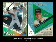 1999 Topps Tek Gold Pattern 14 #25A