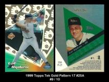 1999 Topps Tek Gold Pattern 17 #25A