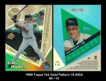 1999 Topps Tek Gold Pattern 18 #25A