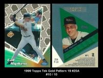 1999 Topps Tek Gold Pattern 19 #25A