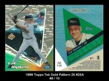 1999 Topps Tek Gold Pattern 20 #25A