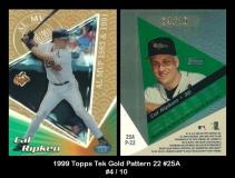 1999 Topps Tek Gold Pattern 22 #25A