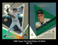 1999 Topps Tek Gold Pattern 23 #25A