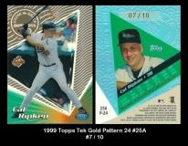 1999 Topps Tek Gold Pattern 24 #25A