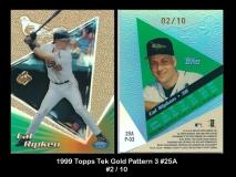 1999 Topps Tek Gold Pattern 3 #25A