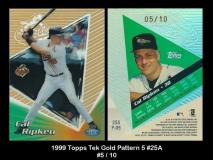 1999 Topps Tek Gold Pattern 5 #25A