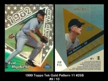 1999 Topps Tek Gold Pattern 11 #25B