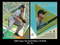 1999 Topps Tek Gold Pattern 20 #25B