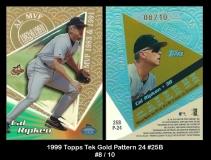 1999 Topps Tek Gold Pattern 24 #25B