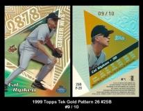 1999 Topps Tek Gold Pattern 26 #25B
