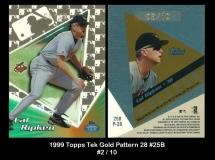 1999 Topps Tek Gold Pattern 28 #25B