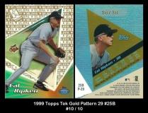 1999 Topps Tek Gold Pattern 29 #25B