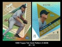 1999 Topps Tek Gold Pattern 5 #25B