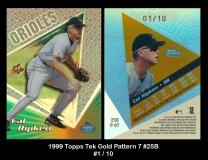 1999 Topps Tek Gold Pattern 7 #25B