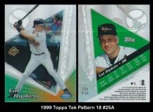 1999 Topps Tek Pattern 18 #25A