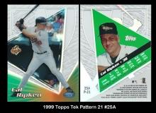 1999 Topps Tek Pattern 21 #25A